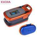 ELERA Health care Portable Finger Pulse Oximeter WITH CASE Fingertip Blood Oxygen Saturation Oximetro de dedo Monitor Beep Alarm