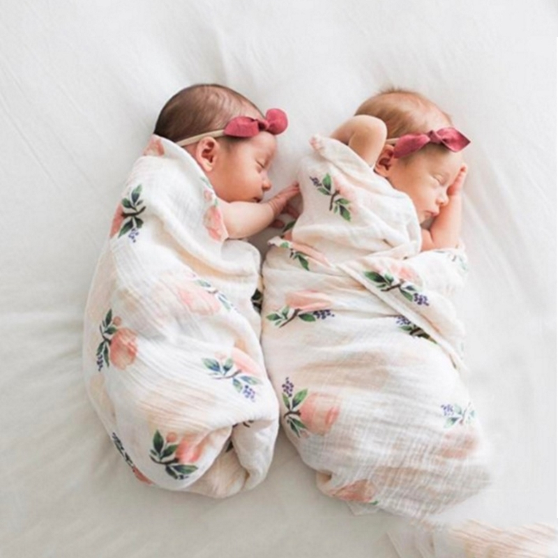 Soft Muslin Cotton Baby Wrap  Blanket Newborn Infant Towel Sleepsack-M15