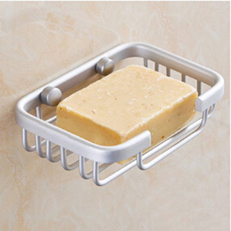 Soap holders stand Aluminum Soaps box Bathroom storage drainage holder features bath shower supply