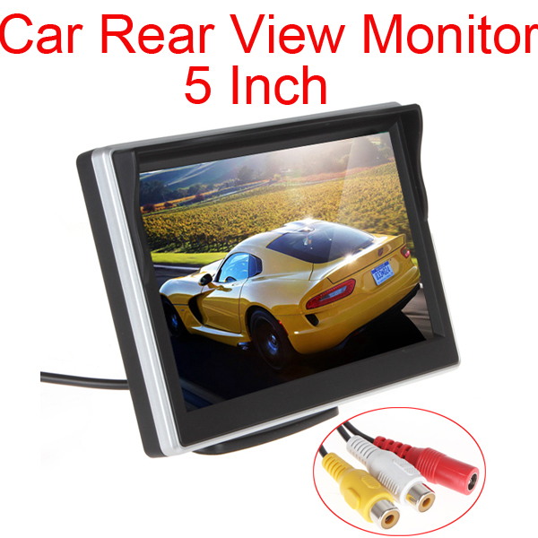 DC 12V 24V 5 Inch 480x272 TFT LCD Digital Car Rear View Monitor LCD Display 16:9 for VCD DVD GPS Camera with Front Diaphragm image