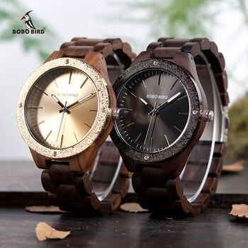 BOBO BIRD nouveau Designer en bois bande hommes montres naturel à la main Quartz poignet bois montres cadeaux relogio masculino C-P05