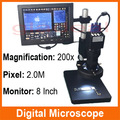 2.0M 200X VGA Output Video Digital Microscope Camera With 48 LED Bulbs For Electronic PCB BGA iPhone Computer Repair tools