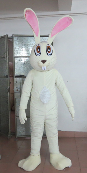 Latest high quality export high quality  slim white rabbit mascot costumes character bunny costumes Holiday special clothing