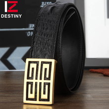 DESTINY Men's Luxury Belts High Quality Genuine Leather Designer Belt Gg Silver Gold Fashion Crocodile Hommes Wide Strap Male G(China (Mainland))