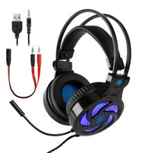 Best Gaming Headphones Headset Deep Bass Stereo Wired Gamer Earphone Microphone with Backlit for PS4 Phone PC Laptop Xbox One folding stereo bass headset 3 5mm wired music earphone headphones with microphone gaming headset for phone mp3 pc computer