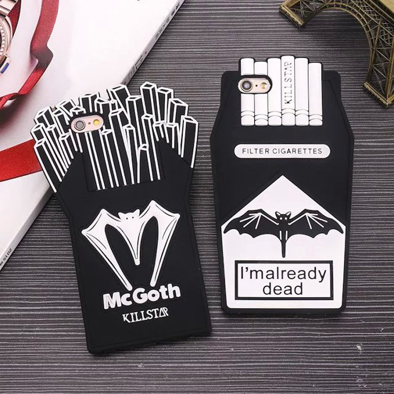 New-3D-Cartoon-French-Fries-Cigarette-Soft-Silicone-Phone-Back-Case-Cover-Skin-For-Apple-iPhone