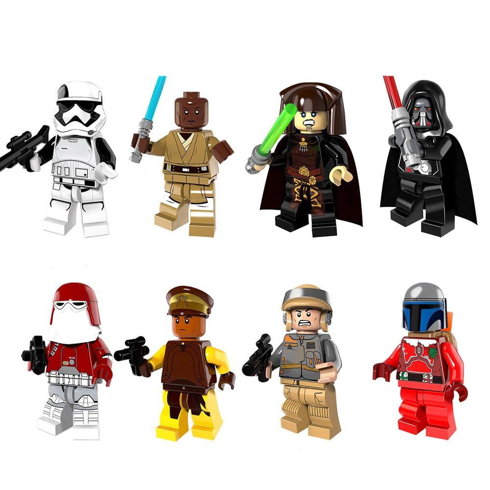 8pcs legoeINGly zvijezda ratova snagu buđenje mini građevinski - Izgradnja igračke - Foto 5