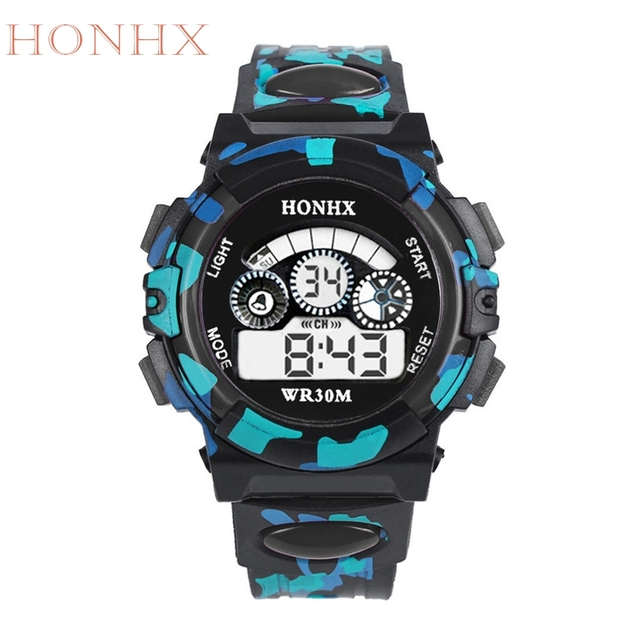 HONHX Fabulous Outdoor Multifunction kid Child/Boy's Sports Electronic Watches W