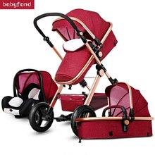 Gold baby stroller popular baby pram 3