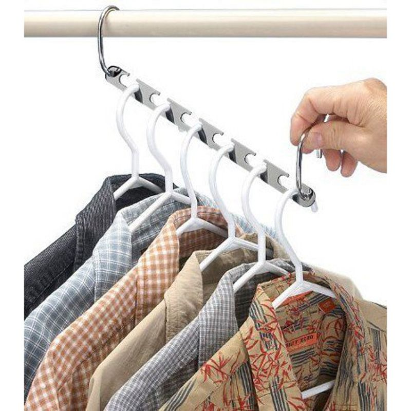 Home & Garden ... Home Storage & Organization ... 32603379949 ... 3 ... 4/6 Pcs Folding Shirts Coat Clothes Hanger Holders Save Space Non-slip Clothing Organizer Practical Racks Hangers for Clothes ...