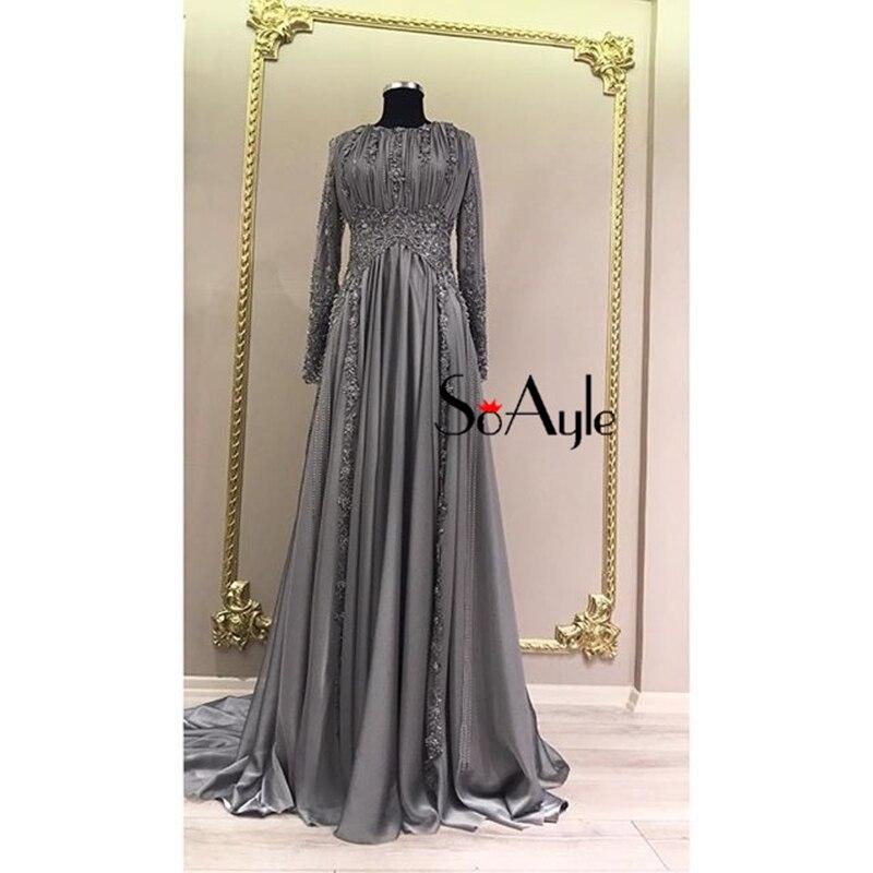 SoAyle Vestido de Madrin 2018 Mother of Bride Dresses Plus Size Chiffon Lace  Appliques Muslim Dubai Beaded Wedding Guest Dresses-in Mother of the Bride  ... 8d082c10ccb8