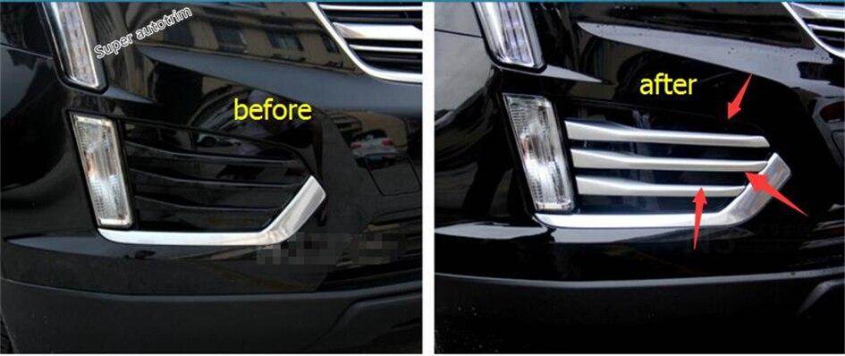Матовая Стиль! Интимные аксессуары для Cadillac XT5 2016 2017 ABS передний бампер глава Туман свет лампы век бровей Обложка отделка 6 шт./компл.