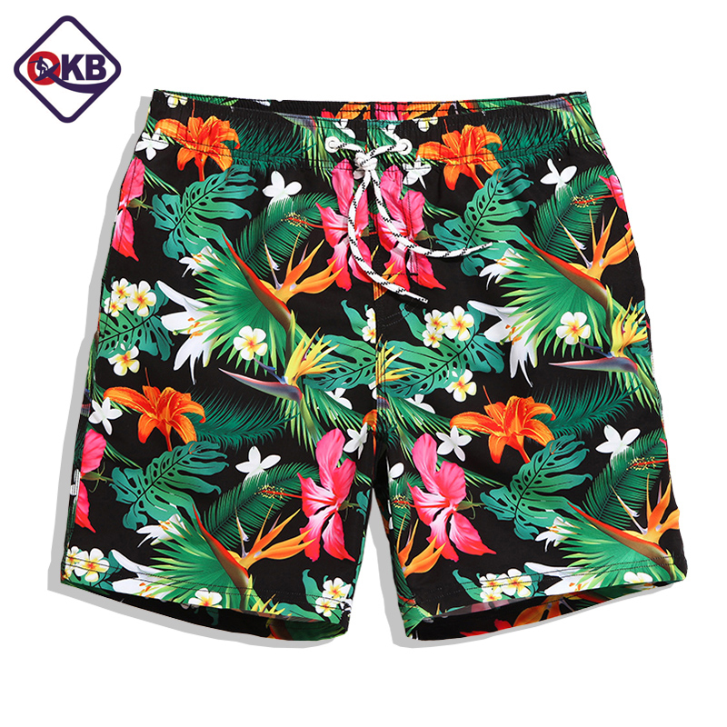 QIKERBONG 2017 New Mens Beach Board Shorts Bermuda Quick Drying Men's Boardshorts Casual Short Bottoms Jogger Boxer Trunks