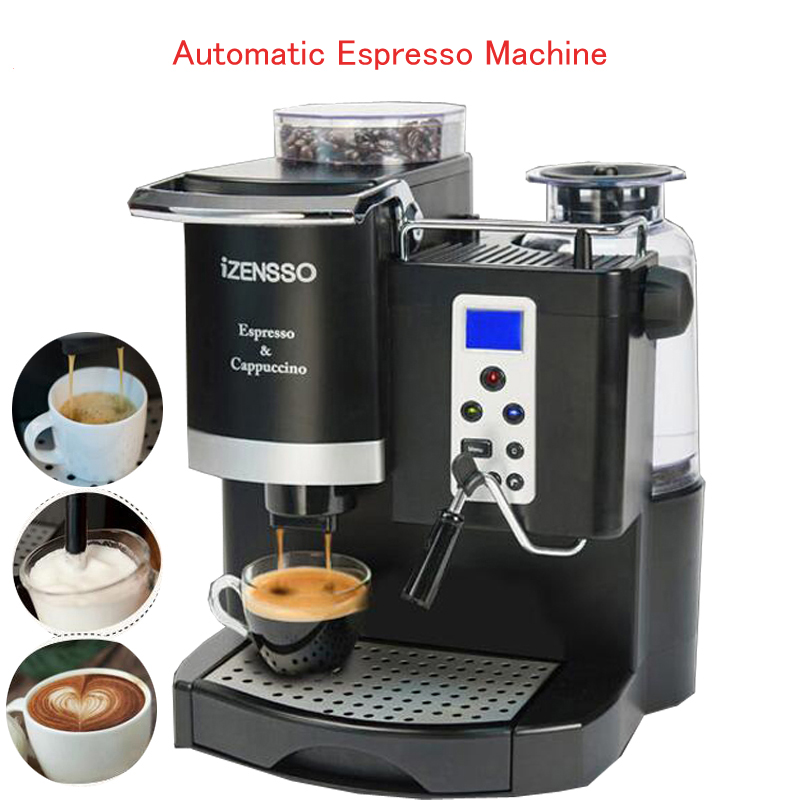 Automatic Espresso Machine in English Version Coffee Maker with Grind Bean and Froth Milk for Home or Coffee Shop SN-8650 selfies coffee printer milk tea yogurt cake printing machine with wifi