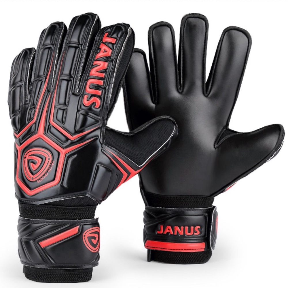 Janus Professional Adult Football Goalkeeper Gloves Mens Soccer Goalie Kits Training Gloves Keepers Finger Protection