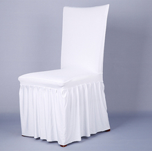 Pleated skirt elastic banquet cover one piece wedding chair
