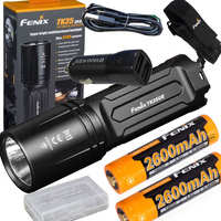 FENIX TK35 UE 2018 3200 Lumen LED USB rechargeable Tactical Flashlight + 2 X 2600mAh battery,holster,car charger,battery case