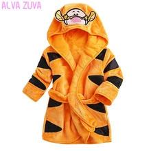 Children Pajamas Robes Kids Hooded Bathrobe Toddler Baby Boys Girls Cartoon Animal Mickey Robes Sleepwear Home Clothing Clt157