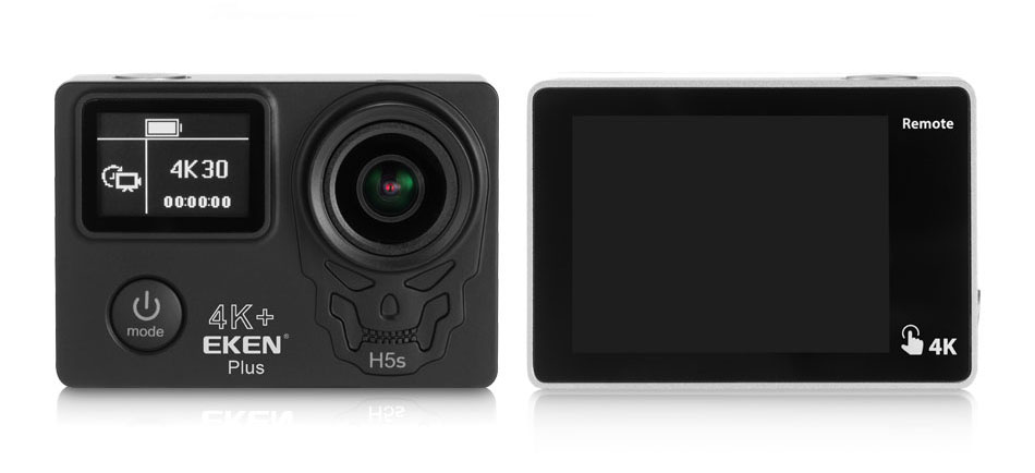 EKEN H5S Plus Action Camera HD 4K 30FPS with Ambarella A12 chip inside 30m waterproof 2.0′ touch Screen EIS go sport camera pro