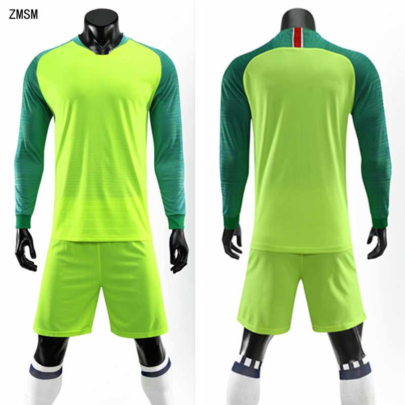 55fdb98e1d8 ZMSM Adult Long sleeve Soccer Jerseys Kit High quality Football Uniform  Custom Soccer Training Suit Breathable
