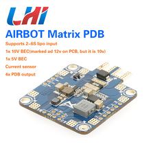 цена на AIRBOT 2x BEC Current Sensor PDB with 4800uf Capacitors, improve ESC performance and cancelling Power Noise for FPV quadcopter