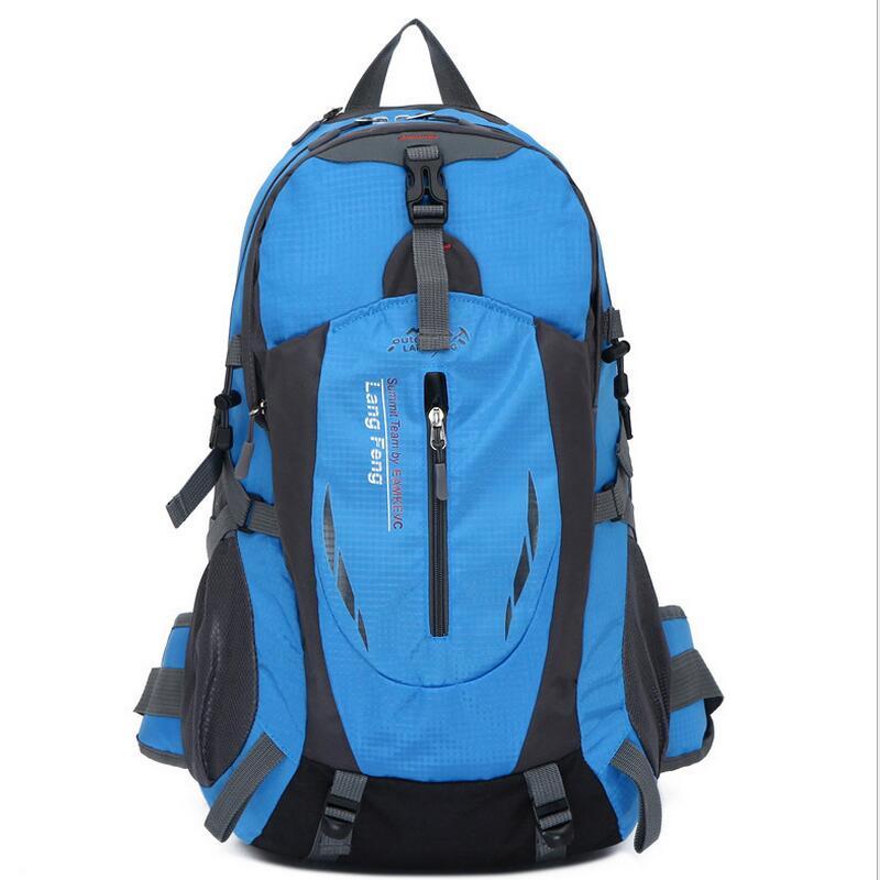ФОТО Camping backpack Multifunction waterproof outdoor mountaineering hiking backpack shoulders rucksack 35L