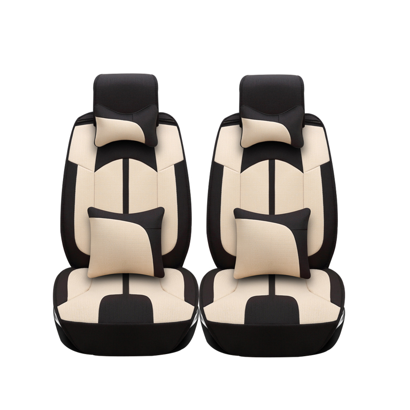 Linen car seat covers For Peugeot 205 206 207 2008 3008 301 306 307 308 405 406 407 car accessories styling lacywear палантин shf 8 grv