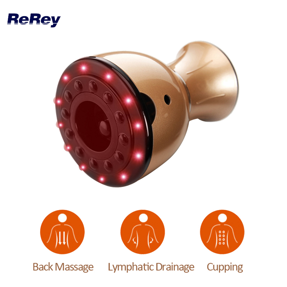 Rechargeable Vacuum Body Massage Machine Lymphatic Drainage Back Arm Leg Neck Massager Cupping Therapy Health Care Heat Device
