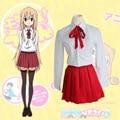 Doma Umaru Cosplay Costumes Japan And South Korea School Uniform Japanese Anime Himouto! Umaru-Chan Clothing(Skirt+Shirt+Tie)