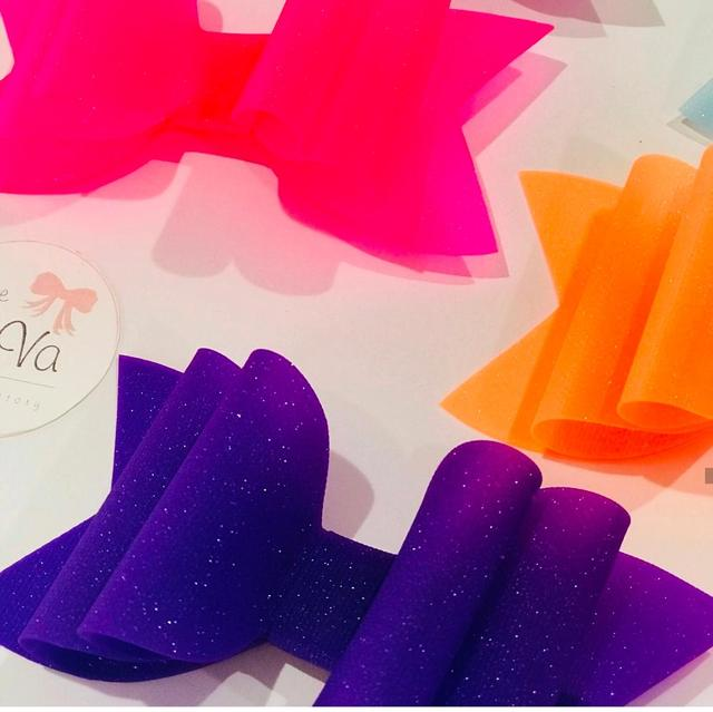 3.5 inch Waterproof Princess Hairgrips Jelly Bows Hair Bows Hairpins Dance Party Bow Hair Clip Matte Textured Glitter Bows