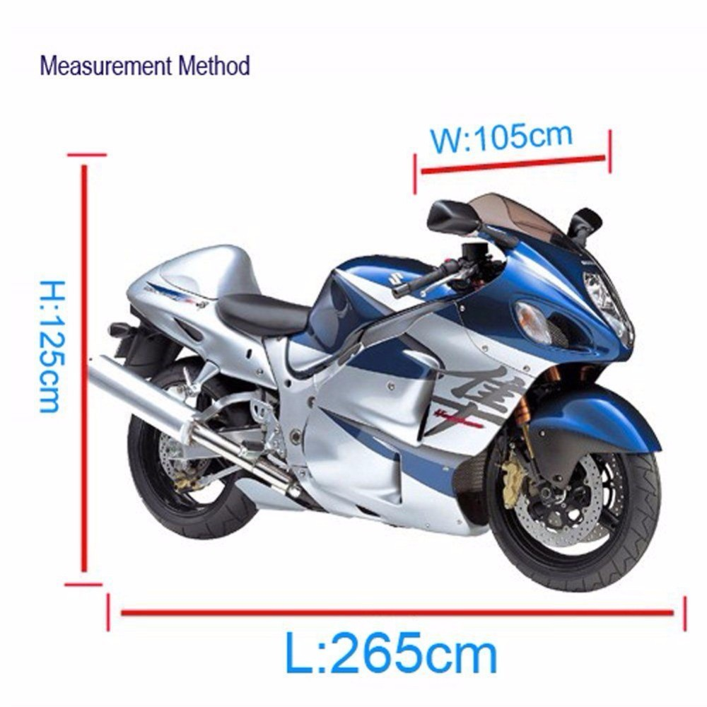 Black UV Protection Motorcycle Waterproof Cover Rain Protection Breathable XXL 1