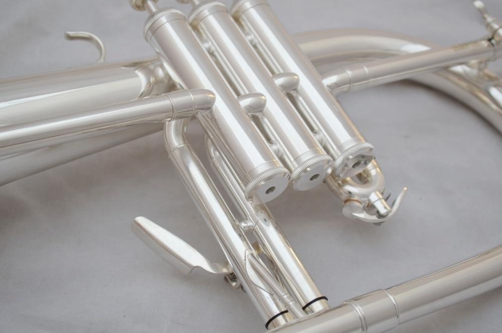 Музыка Fancier клуб Профессиональный flugelhorn BH-950S посеребренный с чехол для профессиональных flugelhorn s Bb желтый Латунный Колокольчик