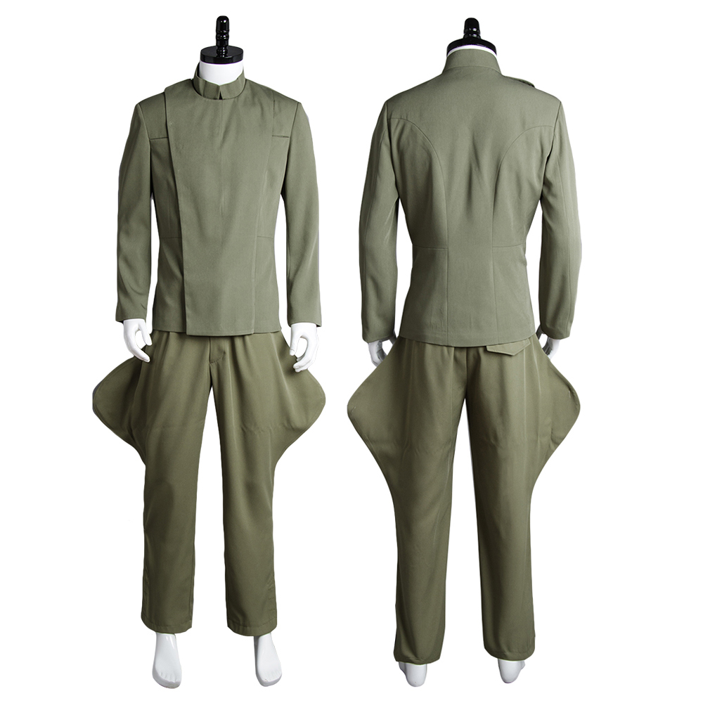 Star Wars Imperial Navy Officer Uniform Olive Green Cosplay Costume For Adult Men Halloween Carnival Cosplay Costumes