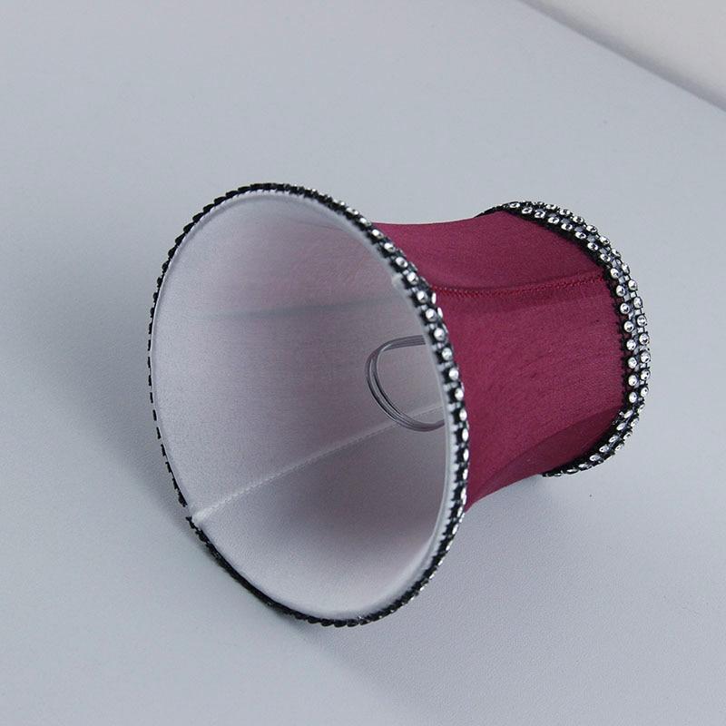 Amaranth farbe Luxus gewebe wandlampenschirme abdeckungen ...