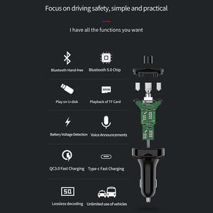 Image 5 - Onever Bluetooth 5.0 zestaw samochodowy z nadajnikiem Fm MP3 Modulator ładowarka samochodowa QC3.0 podwójne USB z ekranem LED kraty tryb EQ 2019 nowy