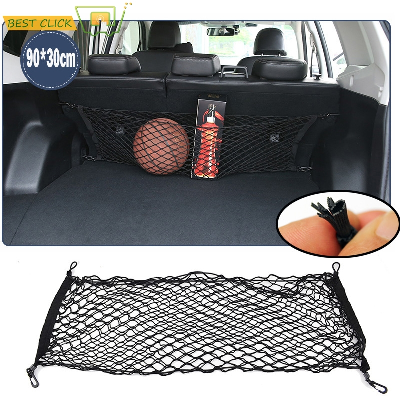 90*30cm arka bagaj zarf kargo ağı çizme depolama organizatör Mesh + 4 kanca Subaru Forester 2009 2010 2011 2012 2013