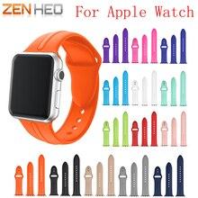 3 Pcs pulseira de Silicone Colorido para apple faixa de relógio 42mm 38mm pulseira esporte pulseira De Borracha correia de pulso para iwatch 3/2/1 banda