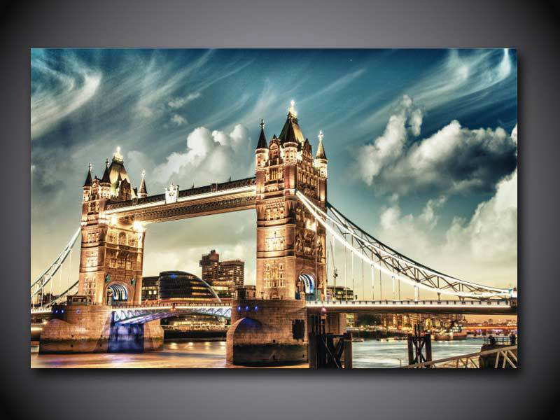 99 1 Pièces Hd London Tower Bridge Angleterre Imprimer Peinture Sur Toile Mur Art Photo Décoration De La Maison Toile Peinture Sans Cadre