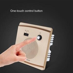 Image 3 - JINSERTA Bluetooth Speaker Smart Socket Mount HiFi Music Player Handfree 110 230V&5V 2.1A USB Charging Port