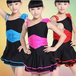 Детская Костюмы для латиноамериканских танцев Salsa Костюмы для бальных танцев платье для танцев Обувь для девочек конкурс танцевальная