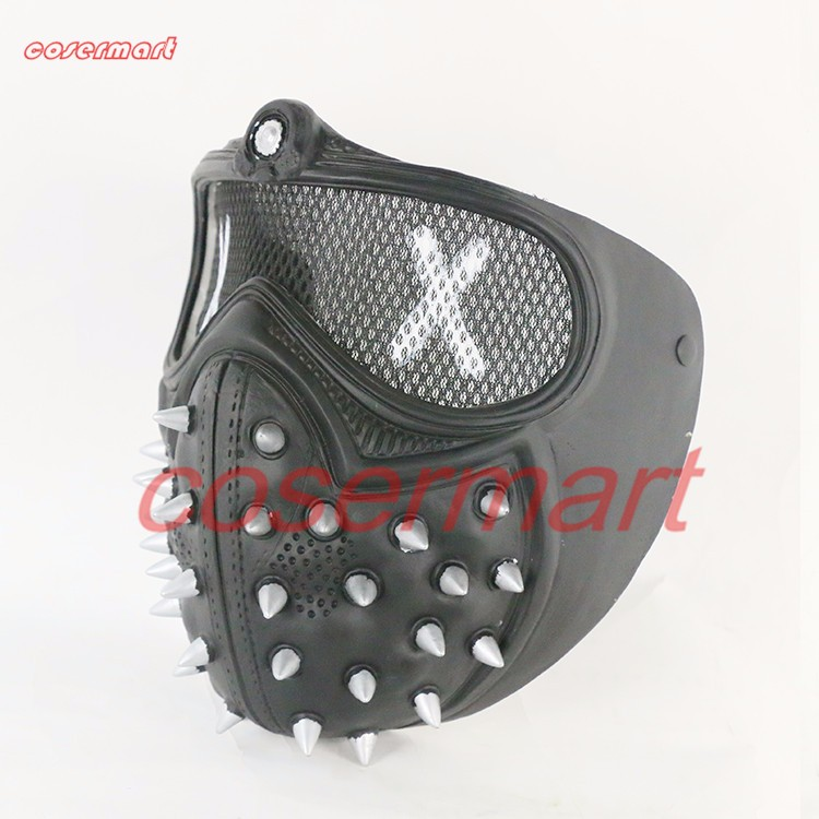 Game Cosplay Mask Watch Dogs 2 Mask Marcus Holloway Mask Casual Tangerine Mask Halloween Party Prop (8)