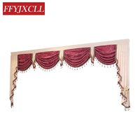 Custom Made New Pelmet Europe Luxury Valance Curtains for Living Room Window Curtains for Bedroom Curtains 1 Piece Home Hotel