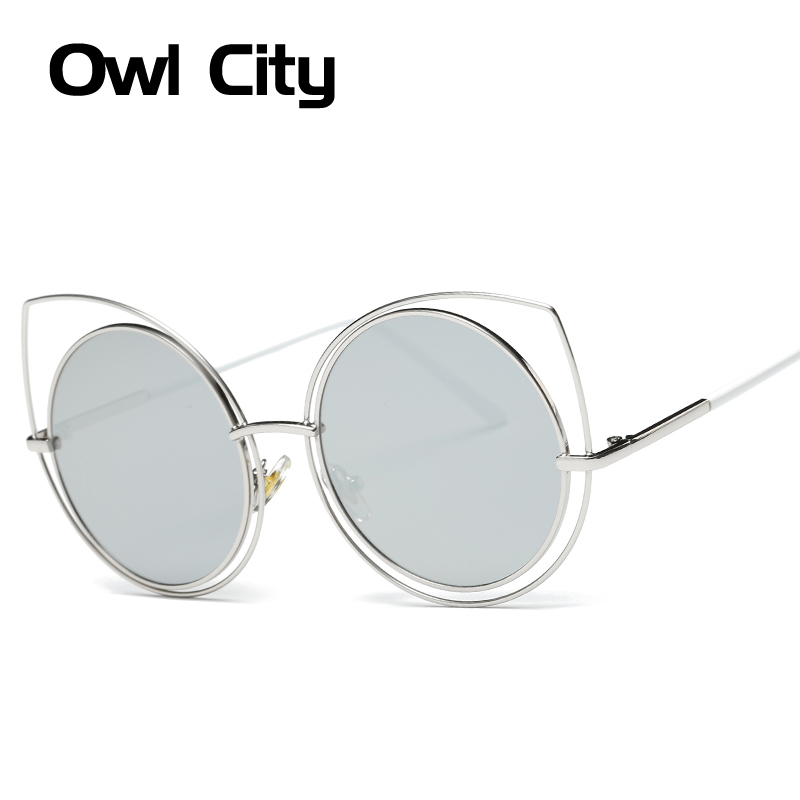 Round Cat eye Sunglasses Women Brand Designer Classic Hollow Out Accessories Fashion Sunglass Female Eyewear UV400