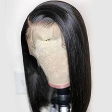 Alice corto cabello humano Bob pelucas sin costuras encaje frente Peluca de  cabello humano con el pelo del bebé Pre arrancó Remy. 52620d0a33a8