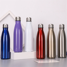 Solid Color Thermos 500ml Water Bottle Portable Double Wall Stainless Steel Drink Vacuum Insulated Outdoors Cup