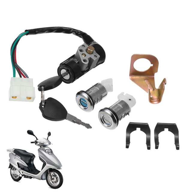 motorcycle ignition switch key set 5 wires for 150cc roketa jonway moped  scooter gy6 50cc