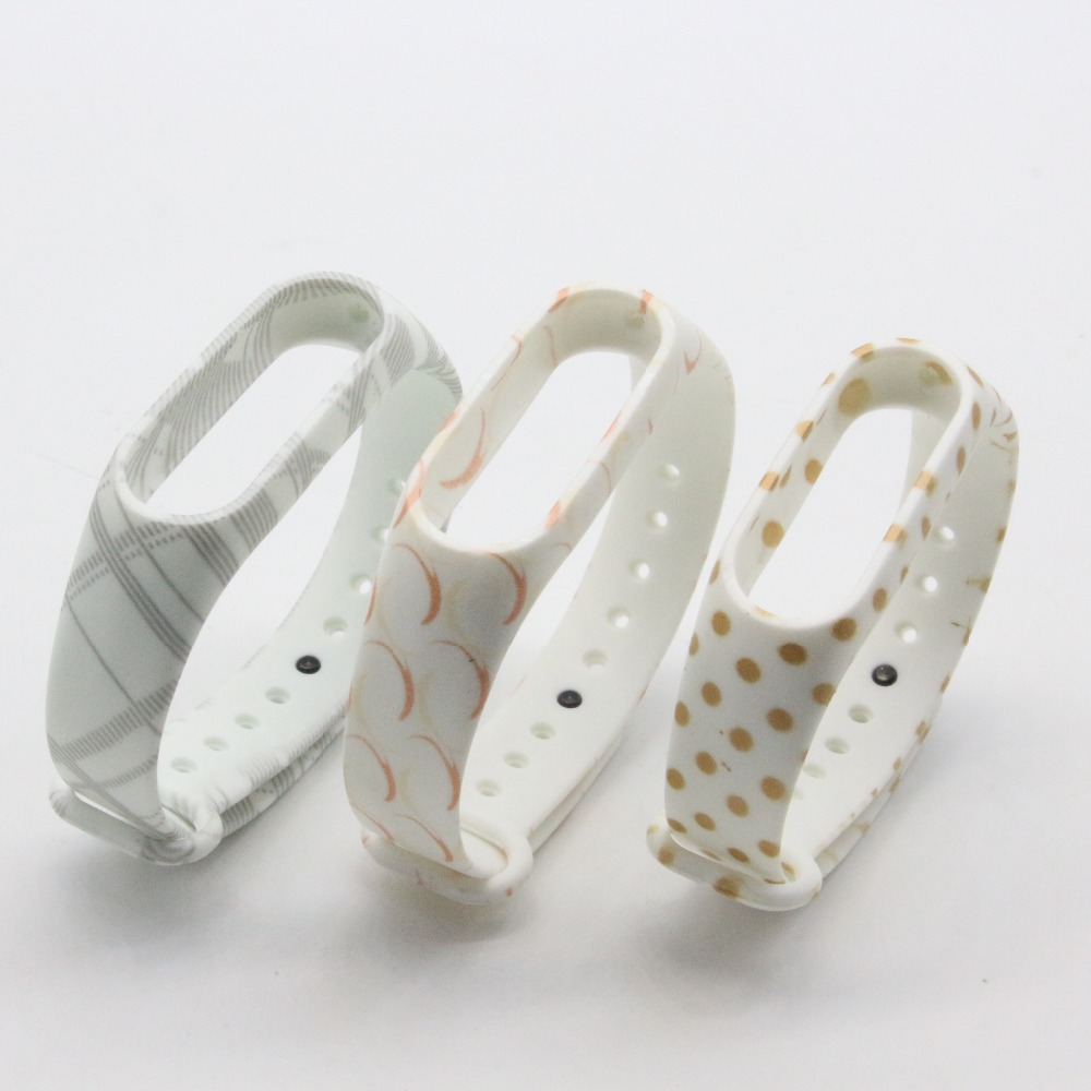 (XM2HS) 3pcs/lot T07 Replace Strap for Xiaomi Mi Band 2,Silicone Wristbands for Mi Band 2 Accessories