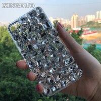 XINGDUO For Meizu U10 Luxury Transparent Bling Diamond Rhinestone Cover Case For Meizu M3 M5 Note