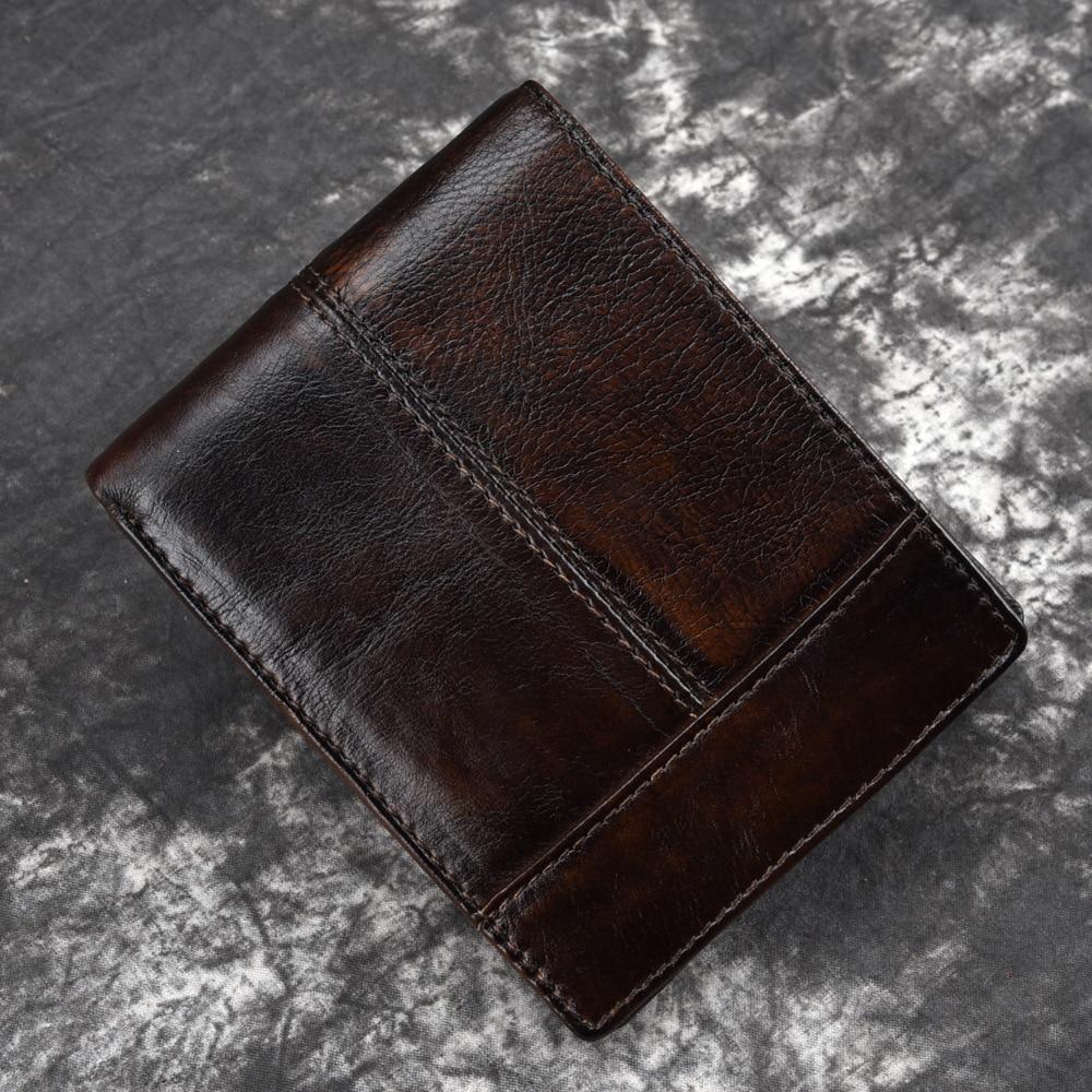 Herrenbekleidung & Zubehör Neue Vintage Echtem Leder Herren Brieftaschen Männer Kurze Brieftasche Kreditkarte Halter Geldbörse Cartea Mujer Billigverkauf 50%