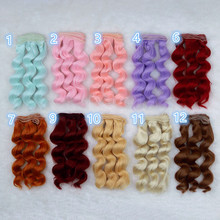 15*100cm Colorful Wavy BJD SD DIY Wigs High-temperature Fiber Wire 1/3 1/4 1/6 Dolls Noodle Curly Wig Handmade Doll Accessories wowhot 1 4 bjd sd doll wigs for dolls high temperature wire short straight mixed colors 1 3 scale doll wig for dolls accessories